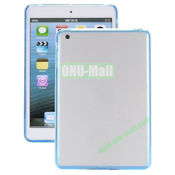 Ultrathin Transparent PC and TPU Hybrid Case Cover for iPad Air (Blue)