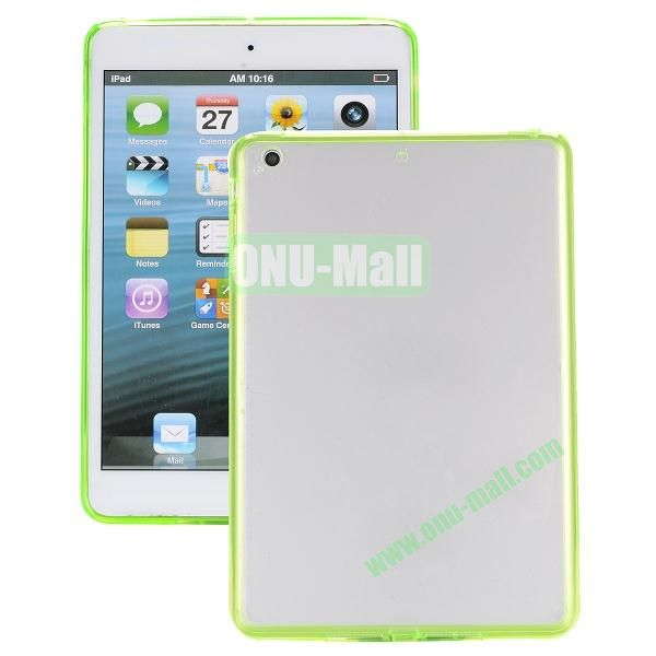 Ultrathin Transparent PC and TPU Hybrid Case Cover for iPad Air (Green)