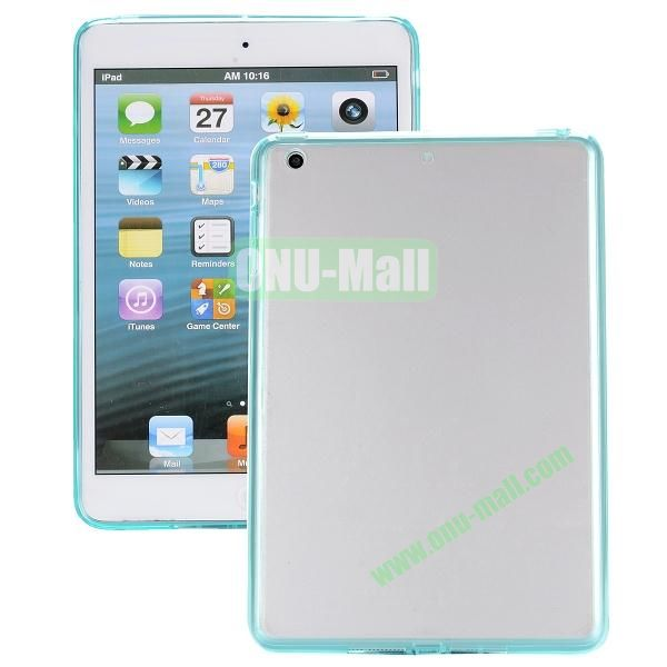 Ultrathin Transparent PC and TPU Hybrid Case Cover for iPad Air (Light Green)