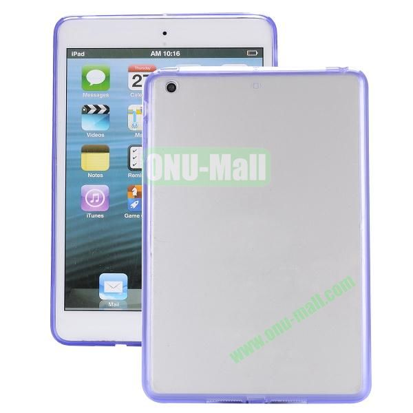 Ultrathin Transparent PC and TPU Hybrid Case Cover for iPad Air (Purple)