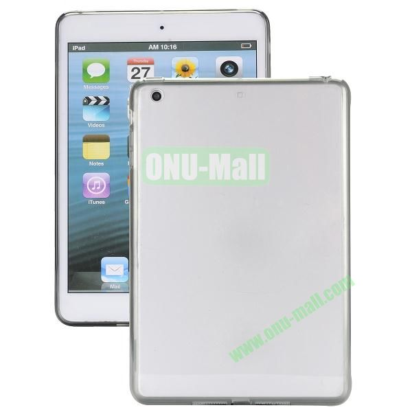 Ultrathin Transparent PC and TPU Hybrid Case Cover for iPad Air (Grey)