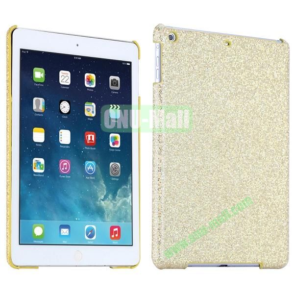 Bling Bling Rhinestone Studded Hard Case For iPad Air (Gold)