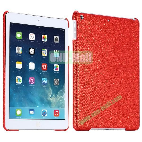 Bling Bling Rhinestone Studded Hard Case For iPad Air (Red)