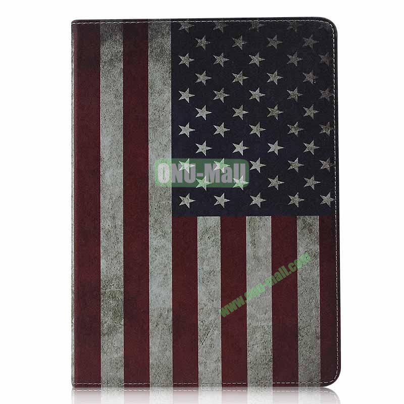 Retro Style Flip Stand Leather Case For iPad Air (USA Flag)