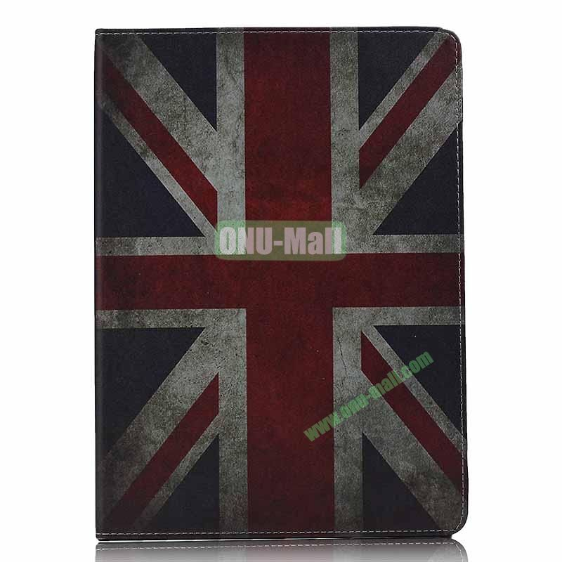 Retro Style Flip Stand Leather Case For iPad Air (UK Flag)