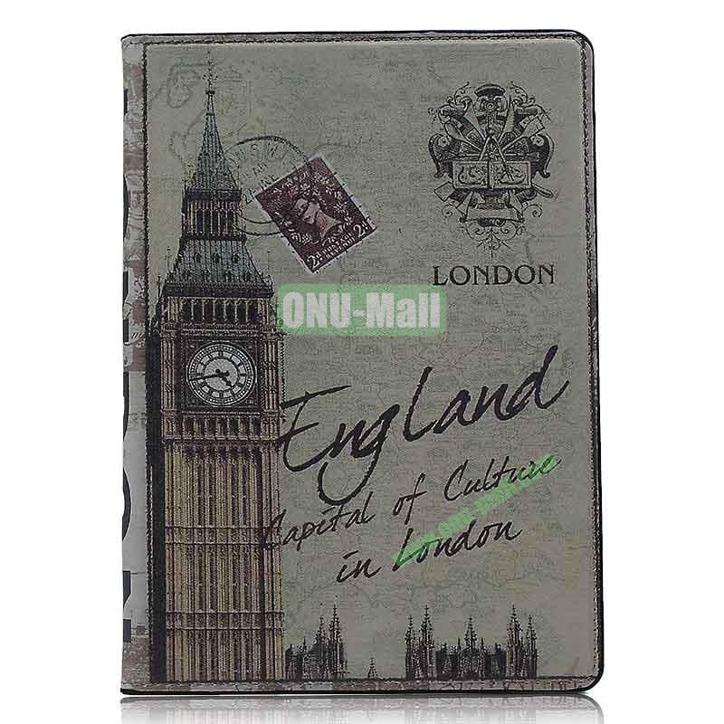 Retro Style Flip Stand Leather Case For iPad Air (Big Ben)