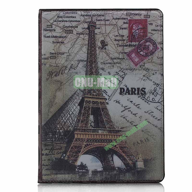 Retro Style Flip Stand Leather Case For iPad Air (Eiffer Tower)