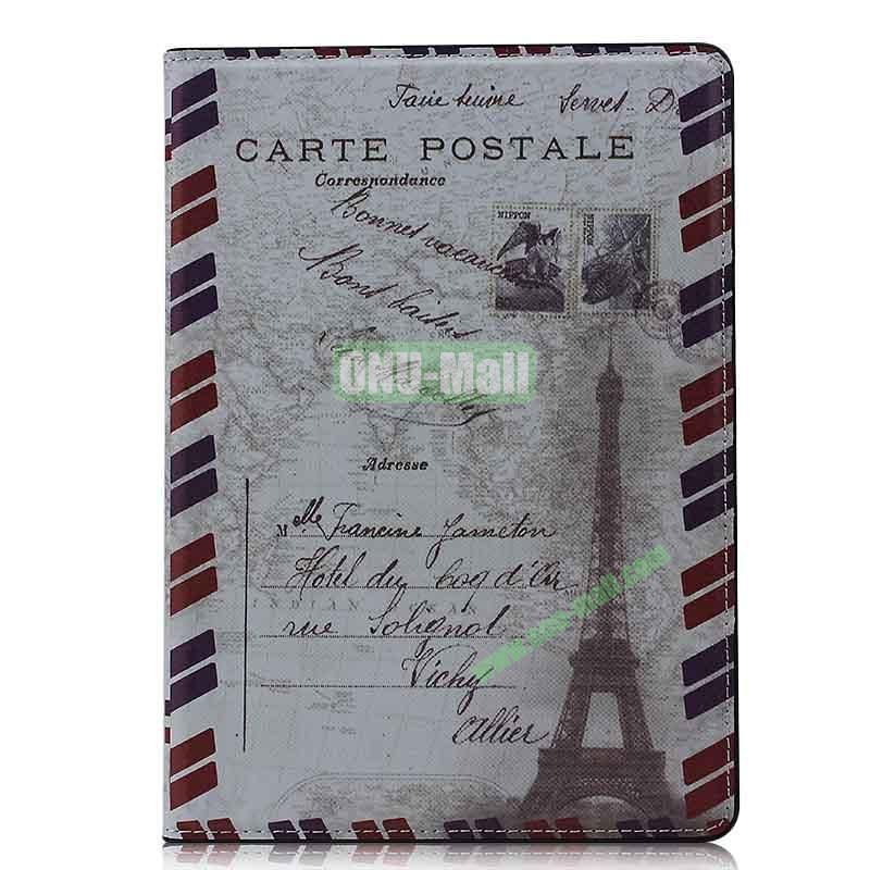 Retro Style Flip Stand Leather Case For iPad Air (Eiffer Tower F)
