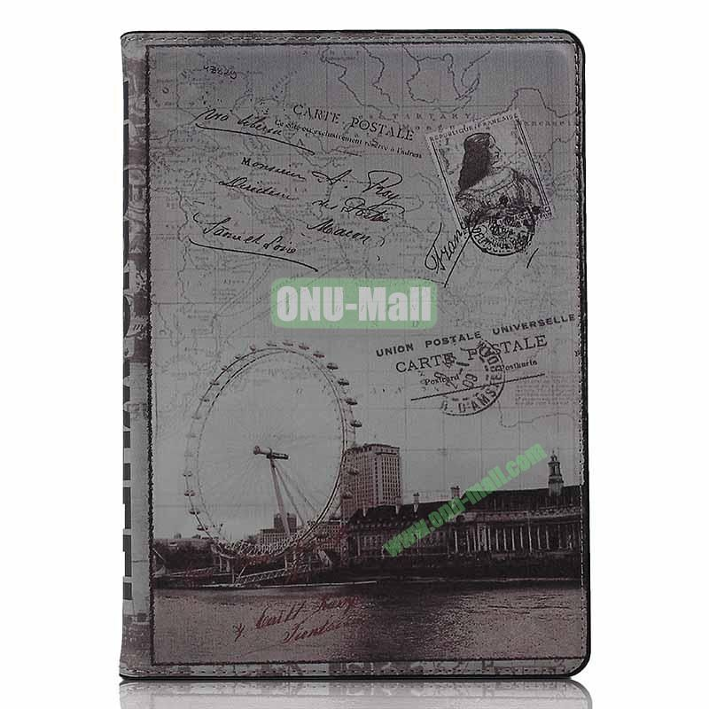 Retro Style Flip Stand Leather Case For iPad Air (London Eye)