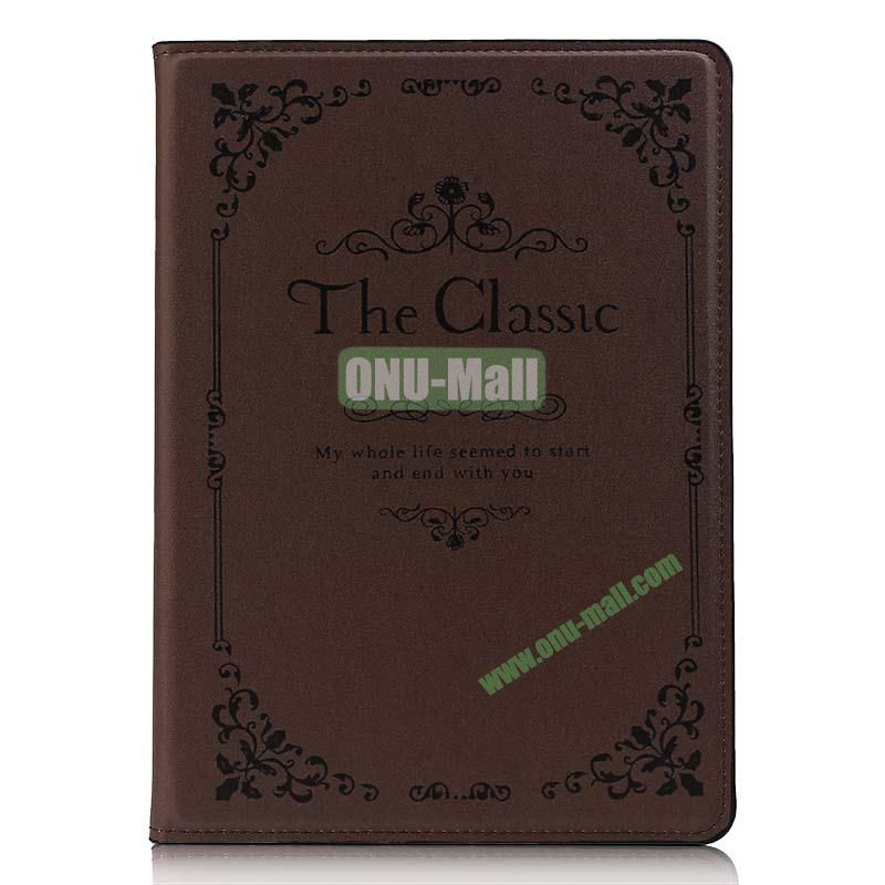 Retro Style Flip Stand Leather Case For iPad Air (The Classical Of Book)