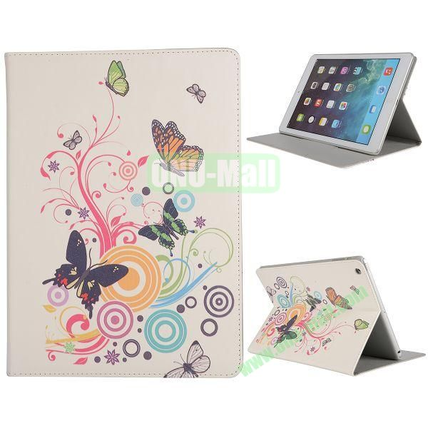 Pretty Pattern Flip Stand Leather Case for iPad Air (Butterfly and Circle)