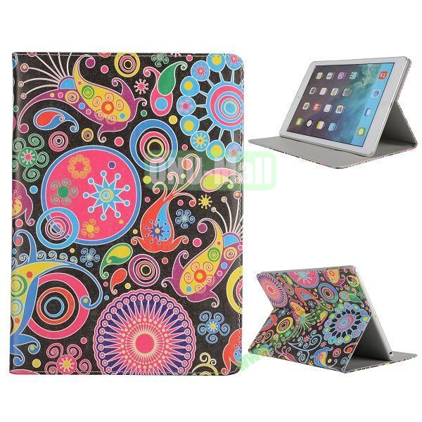 Pretty Pattern Flip Stand Leather Case for iPad Air (Clorized Fishe)