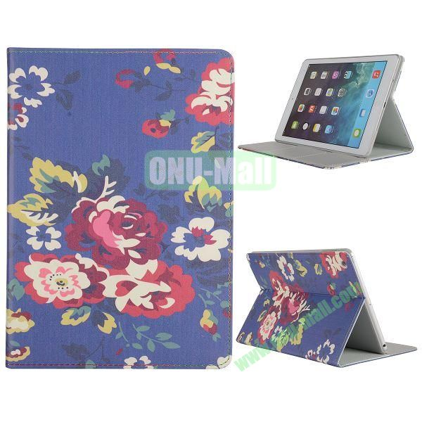 Pretty Pattern Flip Stand Leather Case for iPad Air (Pretty Flowers Pattern)