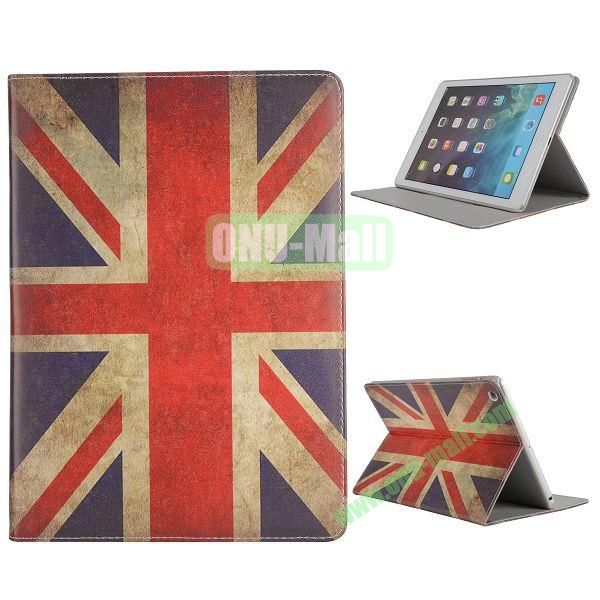 Pretty Pattern Flip Stand Leather Case for iPad Air (UK Flag)