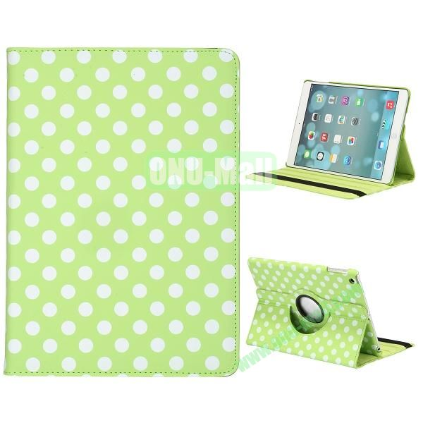 360 Degree Rotatable PC+ Leather Case for iPad Air (Green Background)
