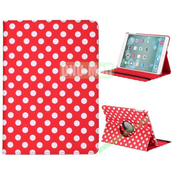 360 Degree Rotatable PC+ Leather Case for iPad Air (Red)