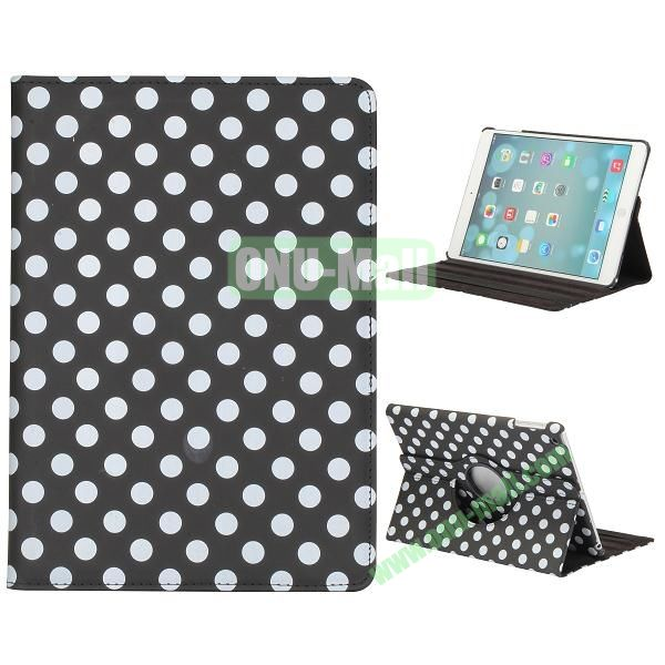 360 Degree Rotatable PC+ Leather Case for iPad Air (Black Background)