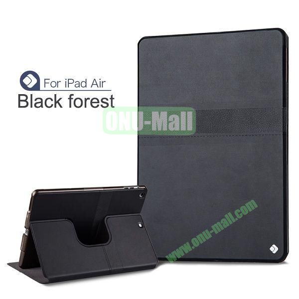 JoyRoom 360 Rotatable Flip PU Leather Case For iPad Air With Smart Wake Sleep (Black)