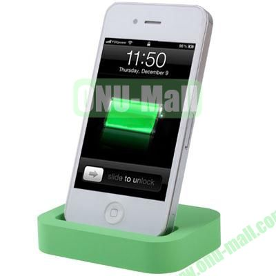 Mini Size Cradle Charger Dock Station for iPhone 4 & 4S with 3.5mm Line Out(Green)