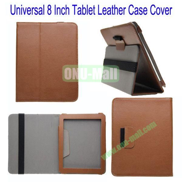 Universal 8 Inch Tablet Leather Case Cover for Samsung Galaxy Note 8.0N5100,Galaxy Tab 3T310,Acer Iconia W3-810 etc(Brown)