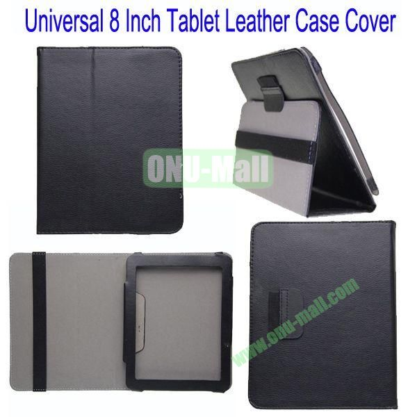 Universal 8 Inch Tablet Leather Case Cover for Samsung Galaxy Note 8.0N5100,Galaxy Tab 3T310,Acer Iconia W3-810 etc(Black)