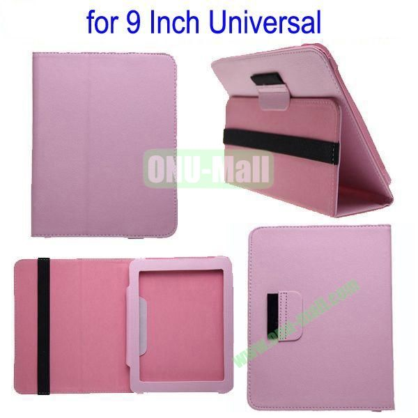 for 9 Inch Universal Tablet Leather Case Cover(Pink)