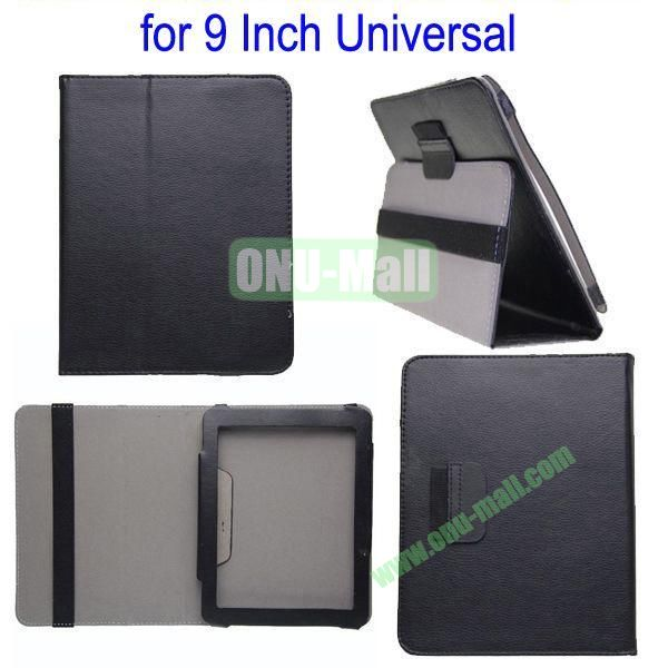 for 9 Inch Universal Tablet Leather Case Cover(Black)