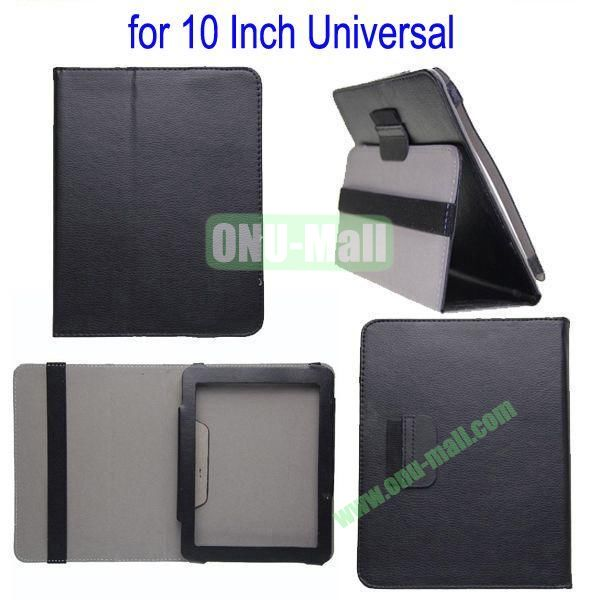 for 10 Inch Universal Tablet Leather Case Cover(Black)