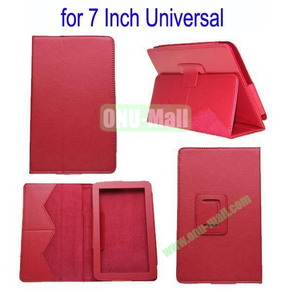 for 7 Inch Universal Tablet Leather Case Cover(Red)