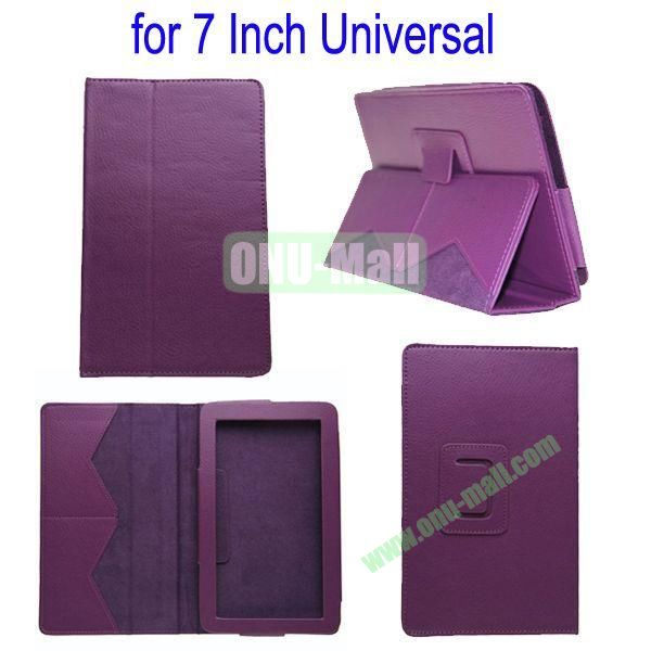 for 7 Inch Universal Tablet Leather Case Cover(Purple)