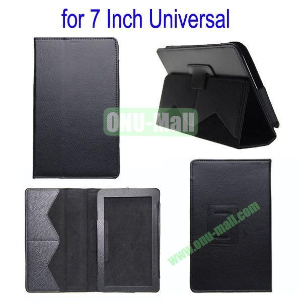 for 7 Inch Universal Tablet Leather Case Cover(Black)