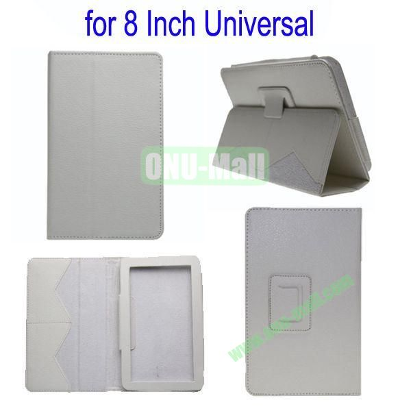 for 8 Inch Universal Tablet Leather Case Cover(White)
