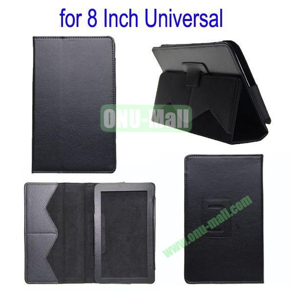 for 8 Inch Universal Tablet Leather Case Cover(Black)
