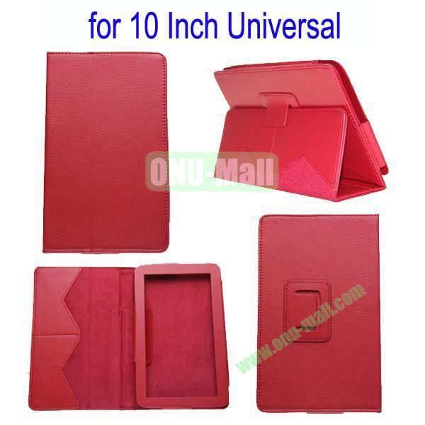 for 10 Inch Universal Tablet Leather Case Cover(Red)