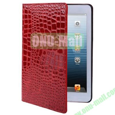Crocodile Texture Leather Case for iPad Mini 2 Retina  iPad Mini 3 (Red)