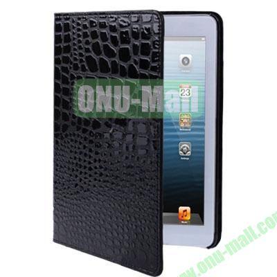 Crocodile Texture Leather Case for iPad Mini 2 Retina  iPad Mini 3 (Black)