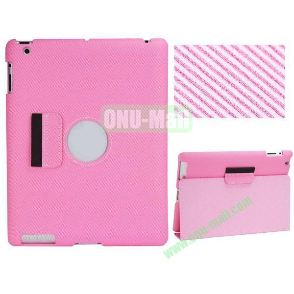 BELK Series Fabric Texture Ultrathin PU Leather Smart Cover for iPad Mini 2 with Holder (Pink)