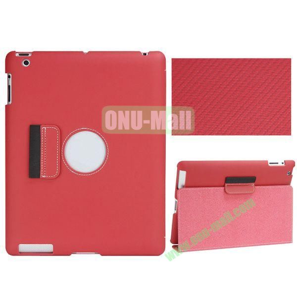 BELK Series Fabric Texture Ultrathin PU Leather Smart Cover for iPad Mini 2 with Holder (Red)