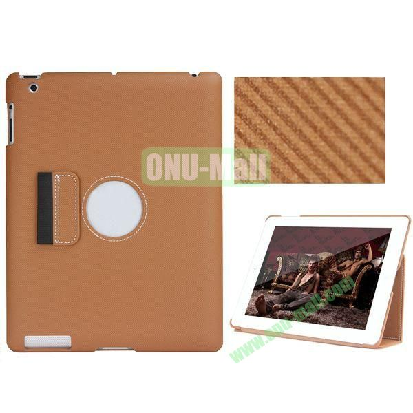 BELK Series Fabric Texture Ultrathin PU Leather Smart Cover for iPad Mini 2 with Holder (Brown)