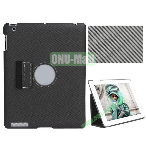 BELK Series Fabric Texture Ultrathin PU Leather Smart Cover for iPad Mini 2 with Holder (Black)