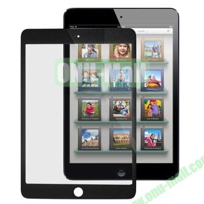 Front Screen Outer Glass Lens Replacement for iPad Mini (Black)