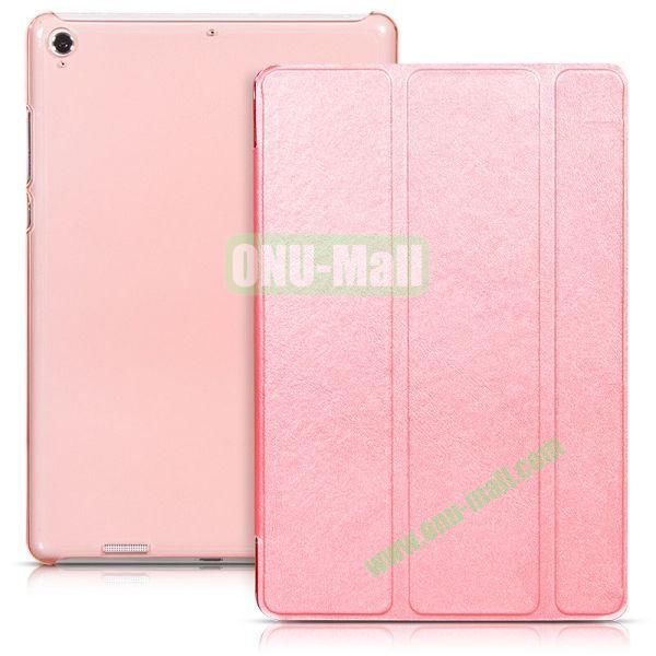 HOCO Tri-fold Flip Stand Leather Case for Xiaomi MiPad A0101 (Pink)