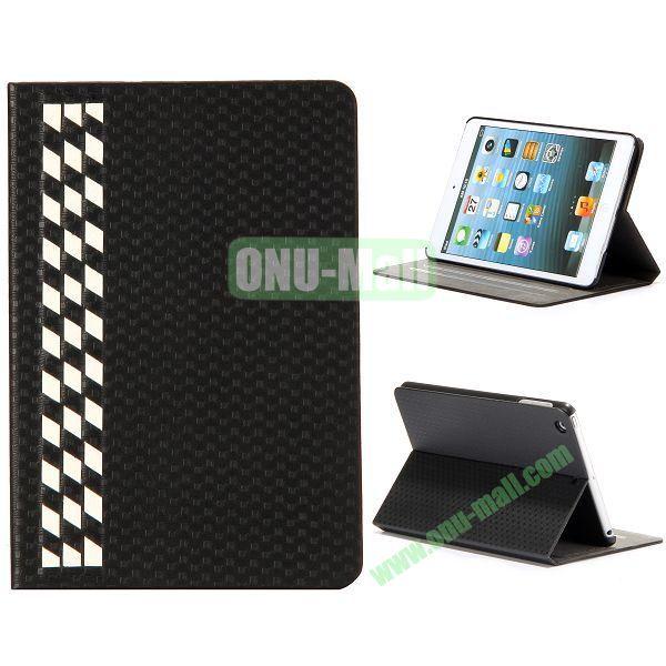 Fashion Football Texture Flip Design Leather Case with Card Slots and 3 Gears for iPad Mini Retina  iPad Mini 3 (Black)