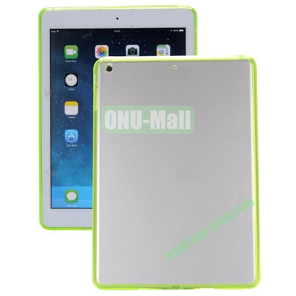 Ultrathin Transparent PC and TPU Hybrid Case for iPad Mini iPad Mini 2 (Green)