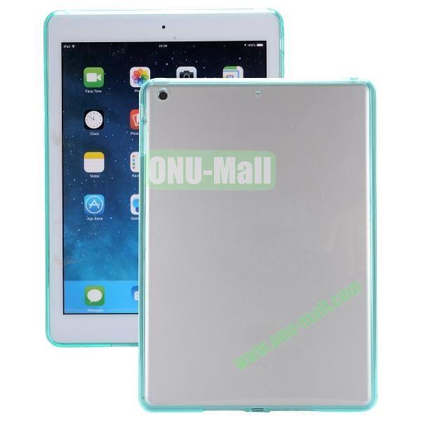 Ultrathin Transparent PC and TPU Hybrid Case for iPad Mini iPad Mini 2 (Light Green)
