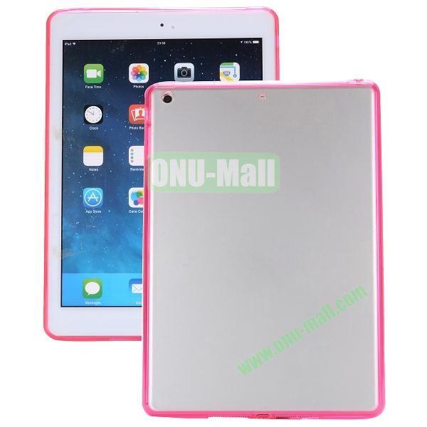 Ultrathin Transparent PC and TPU Hybrid Case for iPad Mini iPad Mini 2 (Rose)