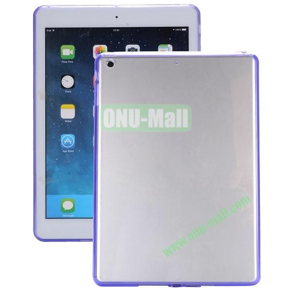 Ultrathin Transparent PC and TPU Hybrid Case for iPad Mini iPad Mini 2 (Purple)