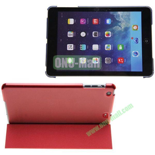 Polyurethane 3-folding Smart Cover + Polycarbonate Partner for iPad Mini iPad Mini 2 RetinaiPad Mini 3 (Red)