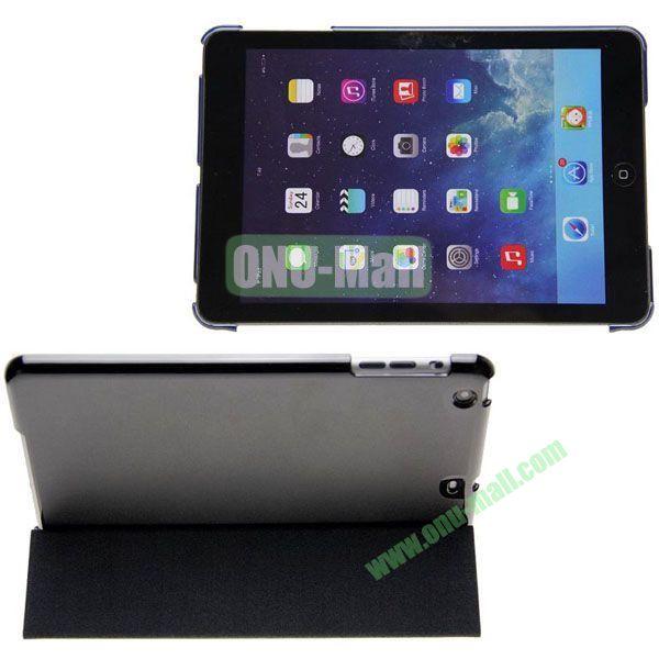 Polyurethane 3-folding Smart Cover + Polycarbonate Partner for iPad Mini iPad Mini 2 RetinaiPad Mini 3 (Black)