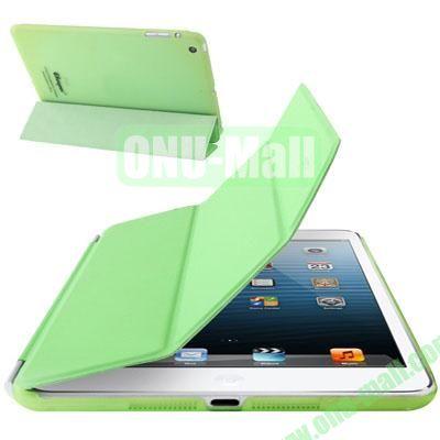2 in 1 Detachable 3-folding Polyurethane Material Magnetic Smart Cover + Polycarbonate Partner for iPad Mini iPad Mini 2 RetinaiPad Mini 3 (Green)